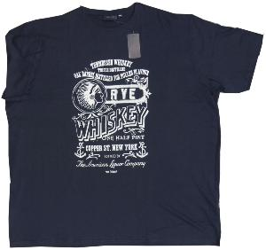 ESPIONAGE Printed Cotton Tee 'TENNESSSE WHISKEY' (NAVY) 2XL