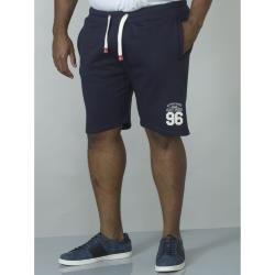 D555 EMBROIDERED AND APPLIQUE FLEECE SHORTS LINDON NAVY