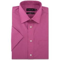 Double Two Non-Iron Cotton Rich Short Sleeve Shirt DUSKY PINK
