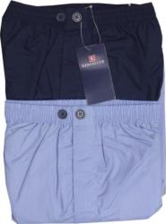 KINGS CLUB Twin Pack Poly/Cotton Pyjama Trousers BLUE/NAVY 2 - 8XL