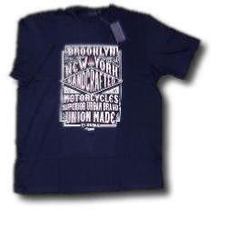 ESPIONAGE Print Cotton Tee 'BROOKLYN MOTORCYCLES' 2XL