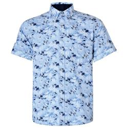 NEW - KAM FLORAL PRINT SHIRT  3 - 6XL