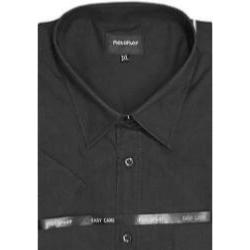 Metaphor Plain Shirt - Short Sleeve BLACK