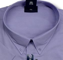 ESPIONAGE Cotton rich Short Sleeve shirt LAVENDER 5 - 8XL