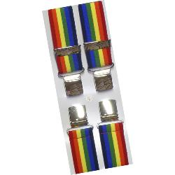 "Big Mens Extra Long 56""  wide fit Braces RAINBOW"