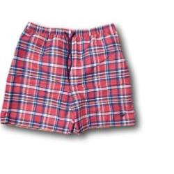 ESPIONAGE Check Swim Shorts NAVY/CORAL 2XL