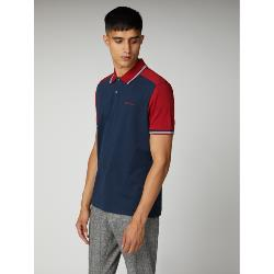 BEN SHERMAN CUT AND SEWN POLO NAVY / RED 2 - 5XL