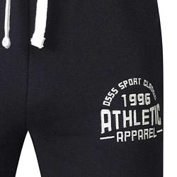 D555 CASUAL JOGGER WITH  EMBROIDERED AND APPLIQUE  DETAIL BLACK 4XL
