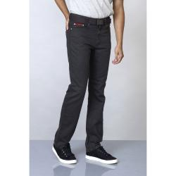 "DUKE Washed Bedford Cord Jeans CHARCOAL GREY 4- 60""S/R"