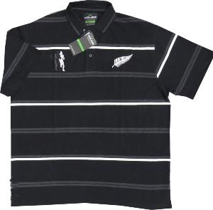 Cotton Rich Rugby Polo Shirt  ALL BLACKS 2XL