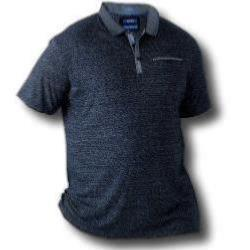 D555 Short Sleeve Polo  with Chambrey trim BRADFORD BLUE 4 - 5XL
