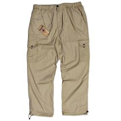 ESPIONAGE  Cotton Active Leisure Cargo Trousers SAND 4XL REGULAR