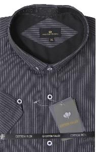 COTTON VALLEY Charcoal Stripe shirt