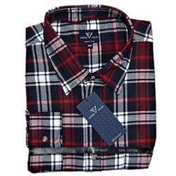 COTTON VALLEY COTTON FLANNEL CHECK SHIRT RED