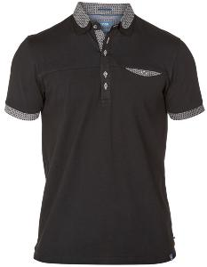 D555 Short Sleeve Polo  with chest pocket  BLACK JEFF