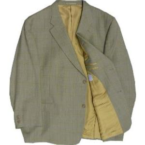 SALE - HUGO JAMES Wool Blend Small Windopane Check Jacket (AMBER/Blue) 54 - 64 S/R