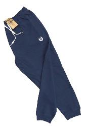 SALE - ESPIONAGE WAFFLE COTTON STRETCH JOGGER WITH ELASTICATED CUFF NAVY 2 XL