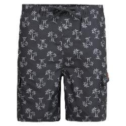 KAM HAWAIIAN BOARD SHORT WITH CARGO POCKETS