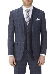 "SKOPES MINWORTH  JACKET  BLUE CHECK   52 - 62"" CHEST REGULAR"