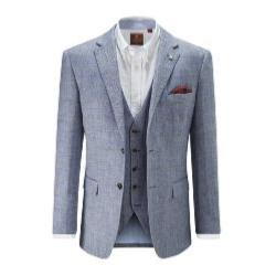 SKOPES Linen Wool Check Jacket BLUE