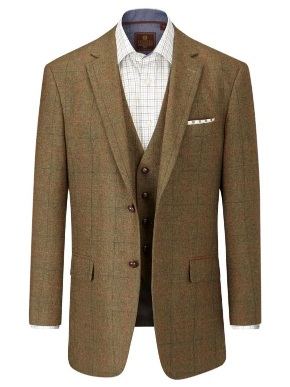 f50a4d48c SKOPES Wool Blend Check Jacket BROWN MONTROSE