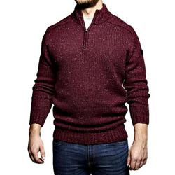 REPLIKA JEANS Half  Zip Casual  Sweater  WINE