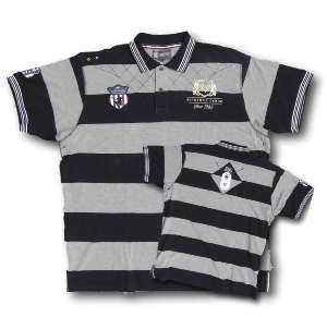 KAM JEANS Denim Club Stripe Polo BLACK