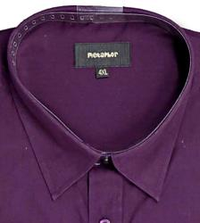 Metaphor Plain Shirt - Long Sleeve AUBERGINE 2XL