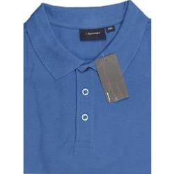 Espionage Cotton Pique Polo Shirts MID BLUE
