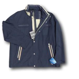 SAXON Showerproof Lightweight Jacket  with concealed Hood COMO NAVY 3XL