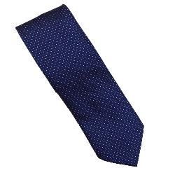 DOUBLE TWO Extra Long Tie PURPLE DOT PATTERNED