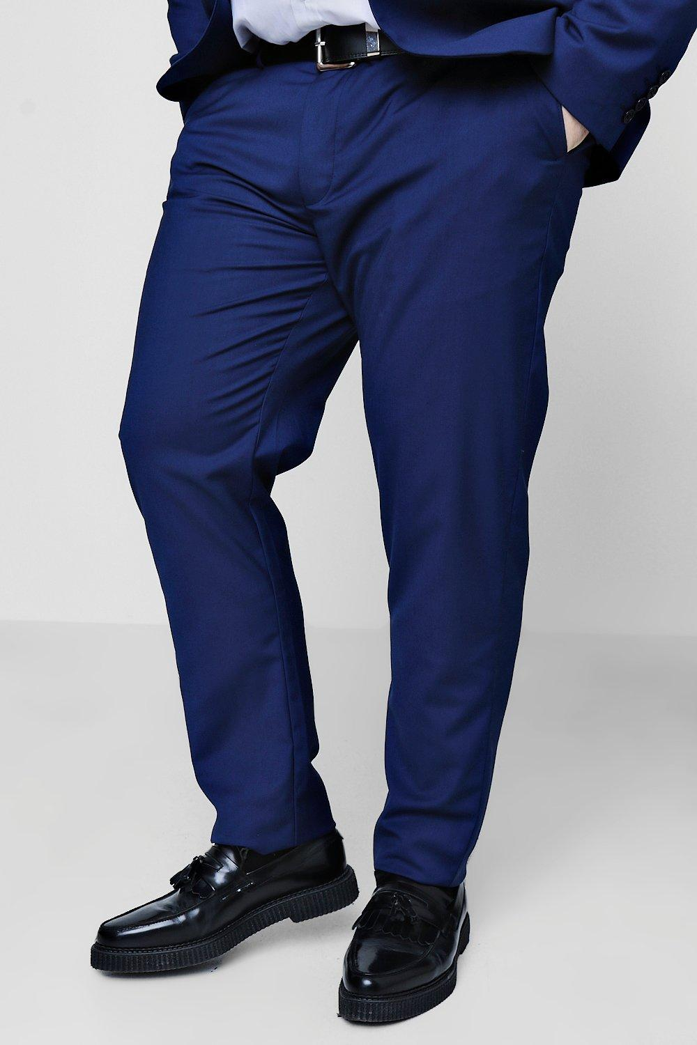 Big Mens Smart Formal Trousers - BLUE