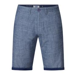 SALE - D555 COTTON DENIM CHAMBREY SHORTS WITH PRINTED TURN UP HEM CLIFF 44- 50""
