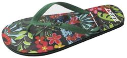 D555 Men's Big Size Rubber Flip Flops  MALIBU BLACK 12 - 15 UK