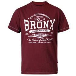 D555 HUDDLESTONE BRONX BOXING ACADEMY CREW NECK PRINTED T-SHIRT RED TWIST 3 - 6XL