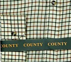 COUNTY Brushed Check Long Sleeve Shirt STONE TATTERSALL
