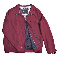 SALE - Lightweight MicroMoss Blouson Style zipper Jacket from CABANO RED 3XL