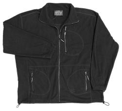 METAPHOR  Rib Polar Fleece Jacket BLACK