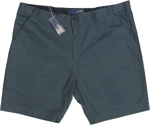 ED BAXTER Cotton Walking Short with comfort FLEX waistband CHARCOAL GREY