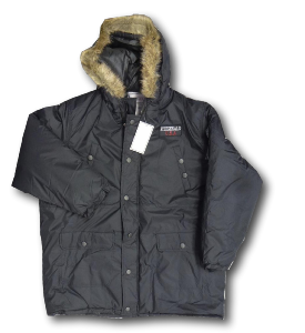 FITZGERALD Lightly Quilted Parker with hood BLACK 2XL