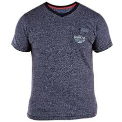D555 Twisted Yarn 'V' neck T-Shirt with pocket KEITH NAVY 3 - 6XL