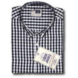 LOUIE JAMES Gingham Check BLACK/WHITE