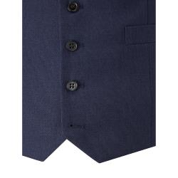 "SKOPES HARCOURT TEXTURED TWEED EFFECT  WAISTCOAT  BLUE  50 - 72"" CHEST"