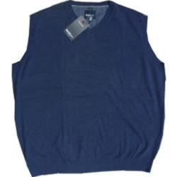 Big Mens NORTH 56'4 Fine Cotton V-neck Slip over DARK BLUE