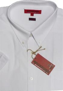 ROCKFORD Short Sleeve Cotton Rich OXFORD Shirt  WHITE