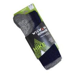 WIGWAM  ULTIMAX HIKING / OUTDOOR PRO SOCK NAVY/PEWTER 12-14 UK
