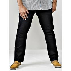"SALE - D555 TAPERED FIT STRETCH JEANS CLAUDE BLACK 44 - 60"" S/R"