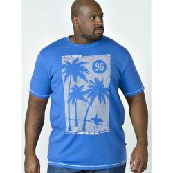 D555 SURF PRINT TEE KANSAS BLUE 4 - 6XL