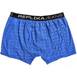 REPLIKA JEANS PRINTED FASHION TRUNKS XO ORIENTAL BLUE