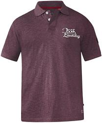 D555 Twist Polo Shirt with Embroidery GRAHAM  BRICK 4 - 7XL